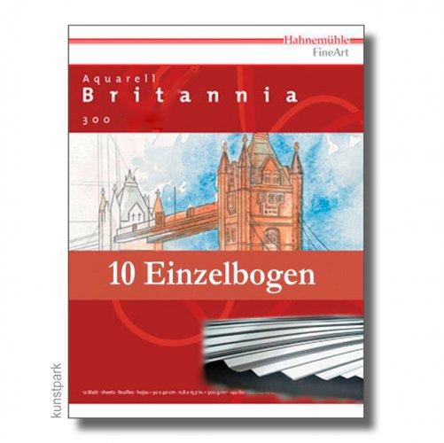 Hahnemühle BRITANNIA Aquarell 10 Einzelblatt, 300g, 50 x 65 cm