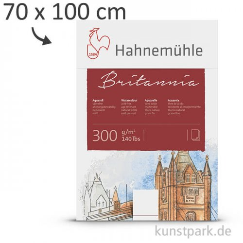 Hahnemühle BRITANNIA Aquarell 10 Einzelblatt, 300g, 70 x 100 cm