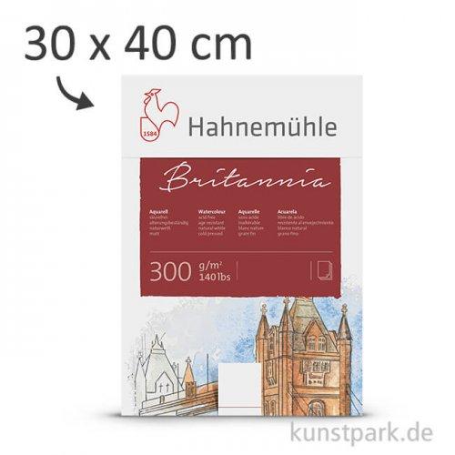 Hahnemühle BRITANNIA Aquarellblock, 12 Blatt, 300g satiniert 30 x 40 cm