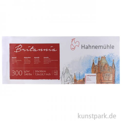 Hahnemühle BRITANNIA Panorama 300g, 12 Blatt, 20 x 50 cm matt