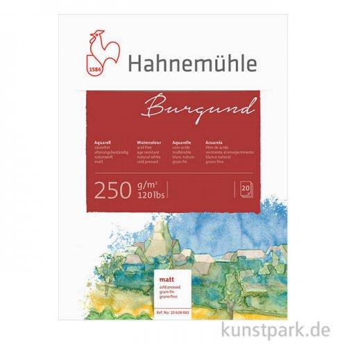 Hahnemühle BURGUND Aquarellblock, 20 Blatt, 250g matt