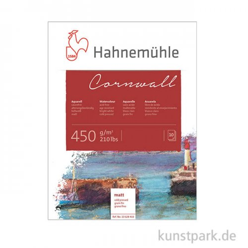 Hahnemühle CORNWALL Aquarellblock, 10 Blatt, 450g matt 30 x 40 cm