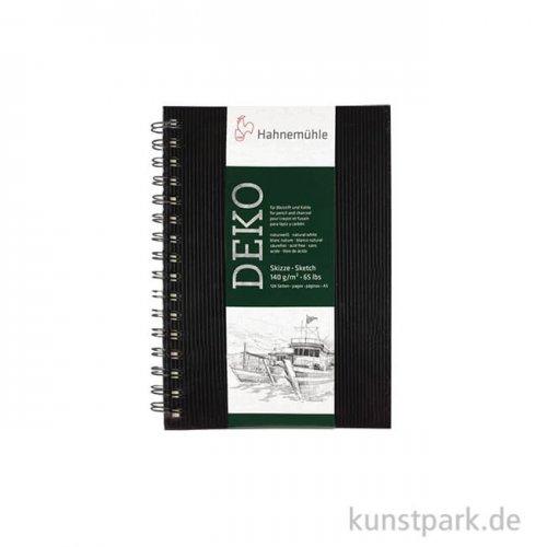 Hahnemühle DEKO Skizzenbuch, 62 Blatt, 140g, schwarz DIN A4