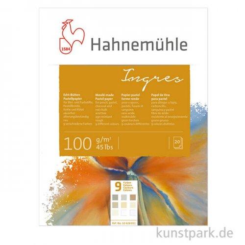 Hahnemühle Echt-Bütten INGRES, 20 Blatt, 100g, 9 Farben