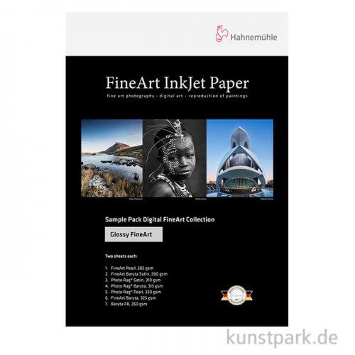 Hahnemühle Glossy FineArt - SamplePack DIN A4, 12 Blatt