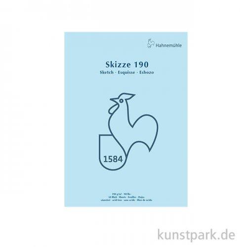 Hahnemühle SKIZZE 190, 1584 Skizzenblock, 50 Blatt, 190g DIN A3