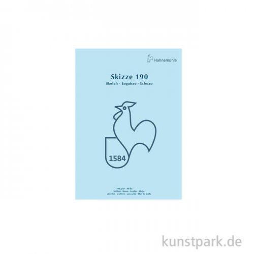 Hahnemühle SKIZZE 190, 1584 Skizzenblock, 50 Blatt, 190g DIN A4