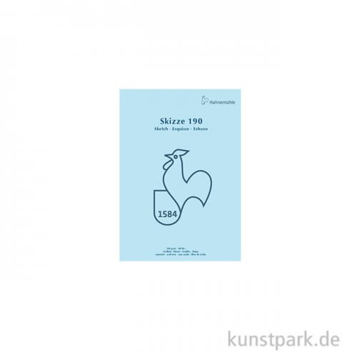 Hahnemühle SKIZZE 190, 1584 Skizzenblock, 50 Blatt, 190g DIN A5