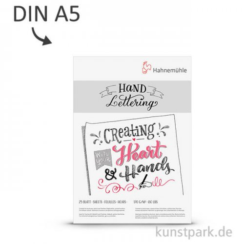 Hahnemühle HANDLETTERING Block, 25 Blatt, 170g DIN A5