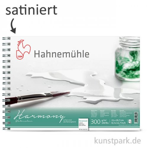 Hahnemühle HARMONY Aquarell Papier Spiralblock, 12 Blatt, 300g - satiniert