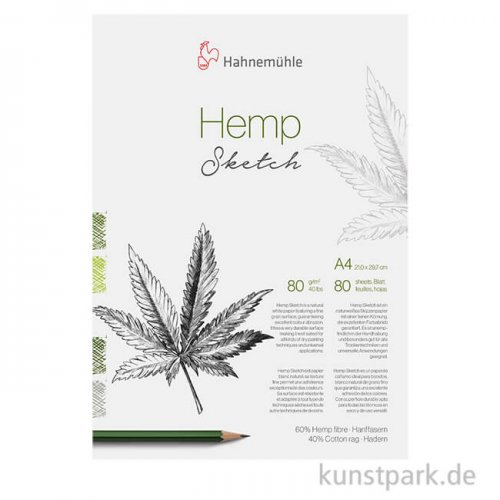 Hahnemühle Hemp Sketch Block, 80 Blatt, 80g