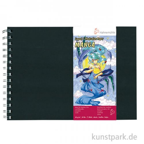 Hahnemühle MANGA BUCH Layout & Illustration, 75 Blatt, 80g