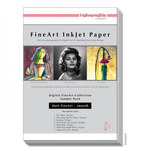 Hahnemühle Matt FineArt Smooth - SamplePack DIN A4, 12 Blatt