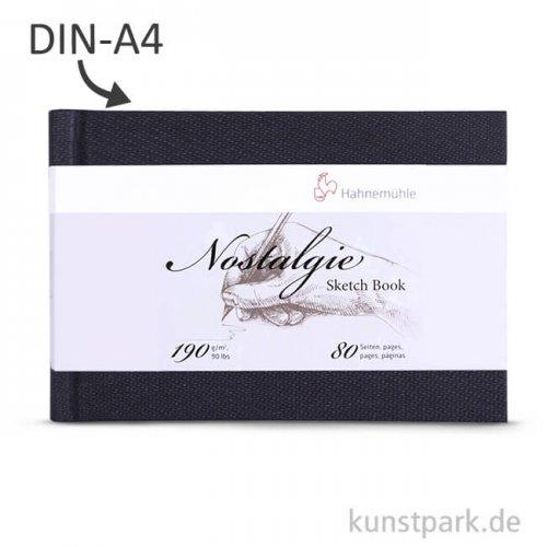 Hahnemühle NOSTALGIE Skizzenbuch, 40 Blatt, 190g DIN A4 (quer)