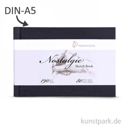 Hahnemühle NOSTALGIE Skizzenbuch, 40 Blatt, 190g DIN A5 (quer)