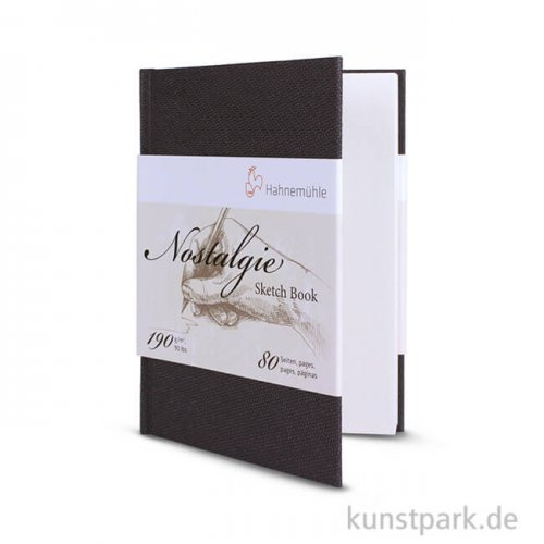 Hahnemühle NOSTALGIE Skizzenbuch, 40 Blatt, 190g