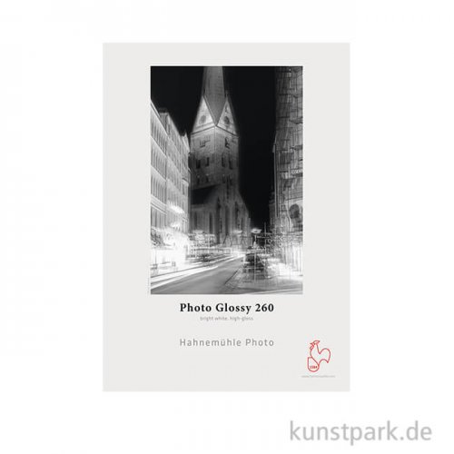 Hahnemühle Photo Glossy, 25 Blatt, 260g DIN A3+