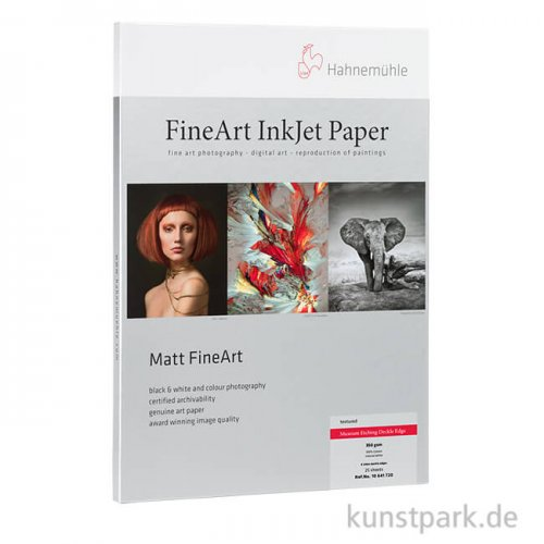 Hahnemühle Photo Rag, 25 Blatt, 308g, Deckle Edge
