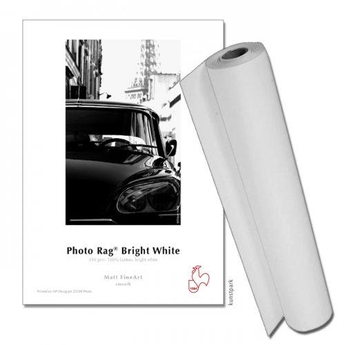 "Hahnemühle Photo Rag Bright White, 310g, 12m Rolle 17"" Breite, 3"" Core"