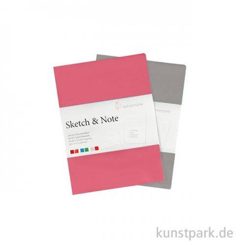 Hahnemühle SKETCH & NOTE, 20 Blatt, 125g, 2 Booklets, Grey-Pink DIN A6