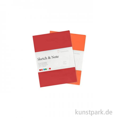 Hahnemühle SKETCH & NOTE, 20 Blatt, 125g, 2 Booklets, Red DIN A6