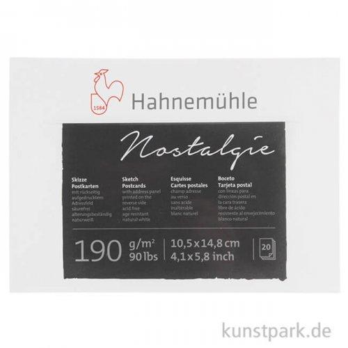 Hahnemühle Postkartenblock Nostalgie, 20 Blatt, 190g, DIN A6