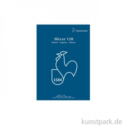Hahnemühle SKIZZE 120, Skizzenblock, 50 Blatt DIN A4