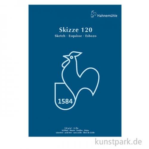 Hahnemühle SKIZZE 120, Skizzenblock, 50 Blatt