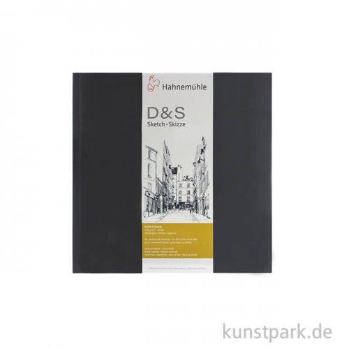 Hahnemühle Skizzenbuch D&S, 140g, schwarz 14 x 14 cm (80 Blatt)