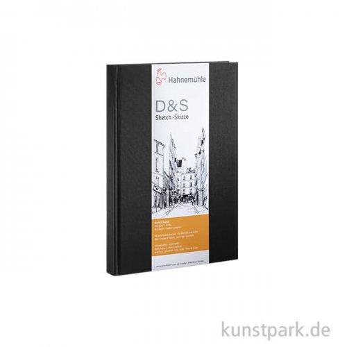 Hahnemühle Skizzenbuch D&S, 140g, schwarz DIN A4 hoch (80 Blatt)