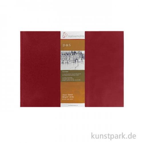 Hahnemühle Skizzenbuch D&S, 80 Blatt, 140g, rot DIN A5 (quer)