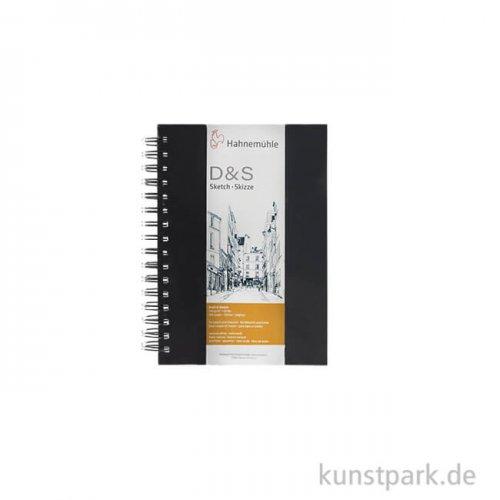 Hahnemühle Skizzenbuch D&S, 80 Seiten, 140g, schwarz, spiral DIN A5 (hoch)