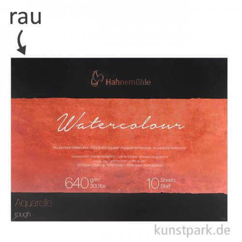 Hahnemühle The Collection Watercolour rau 10 Blatt 640g