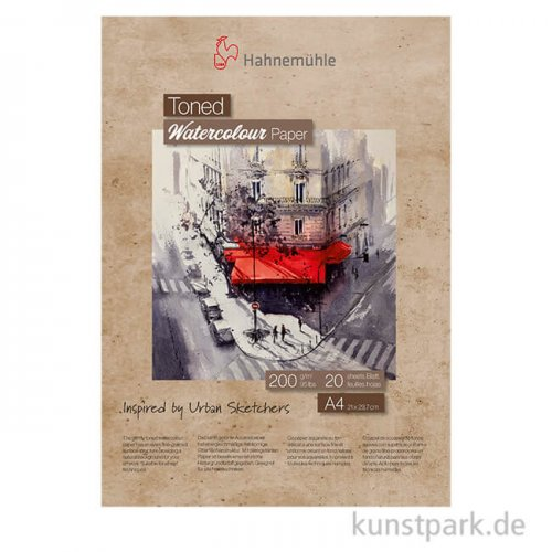 Hahnemühle Toned Watercolour Block Beige, 20 Blatt, 200g DIN A4