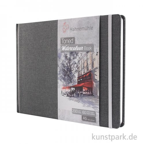 Hahnemühle Toned Watercolour Book Grey, 30 Blatt, 200g