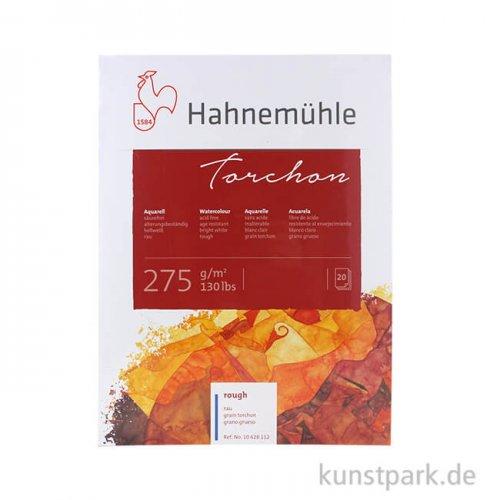 Hahnemühle TORCHON Aquarellblock, 20 Blatt, 275g rau 17 x 24 cm