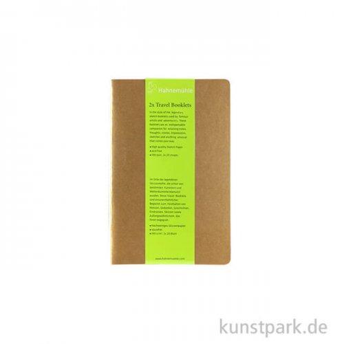 Hahnemühle TRAVEL Booklet, 20 Blatt, 140g, 2 Stück 13,5 x 21 cm (hoch)