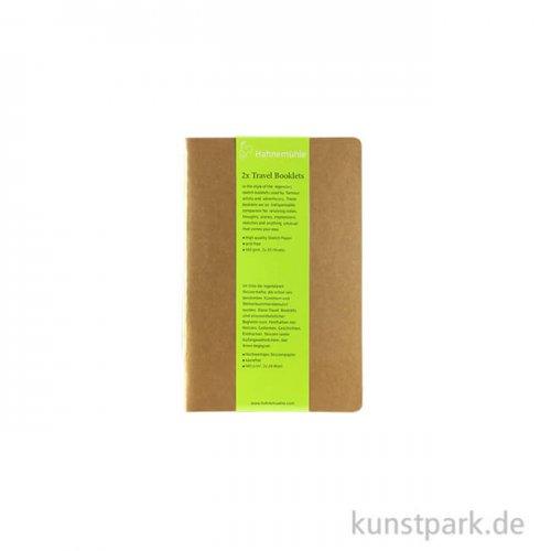 Hahnemühle TRAVEL Booklet, 20 Blatt, 140g, 2 Stück 9 x 14 cm (hoch)