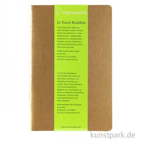 Hahnemühle TRAVEL Booklet, 20 Blatt, 140g, 2 Stück