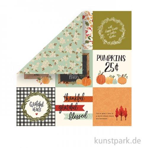 Hello Autumn Scrappapier - 4X4 Journaling Cards