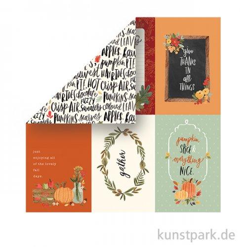Hello Autumn Scrappapier - 4X6 Journaling Cards
