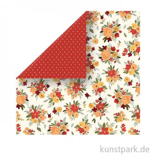 Hello Autumn Scrappapier - Fall Floral