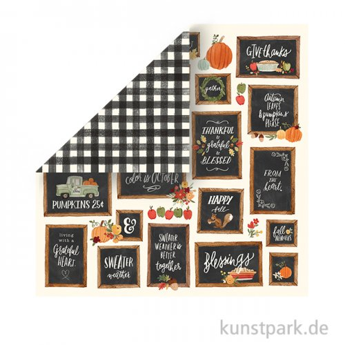 Hello Autumn Scrappapier - Give Thanks Boards