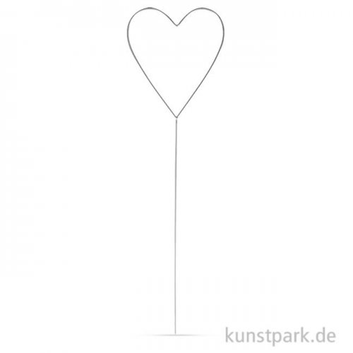 Herz aus Draht zum Stecken, 37x11,5 cm