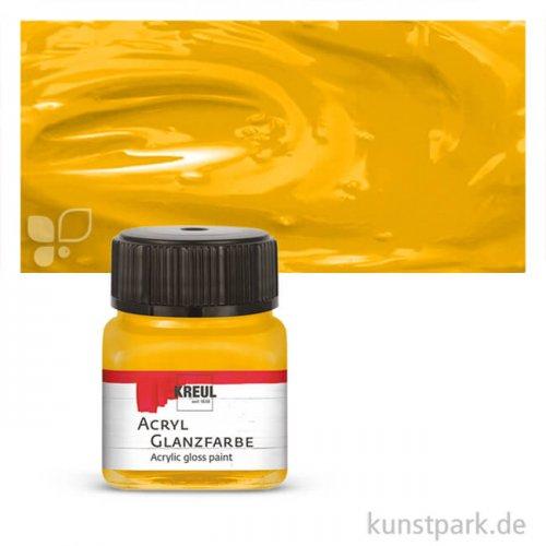 HOBBY LINE Acryl Glanzfarbe 20 ml | Dunkelgelb