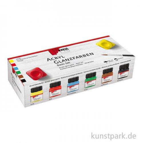 KREUL Acryl Glanzfarben Basis Set - 6 x 20 ml