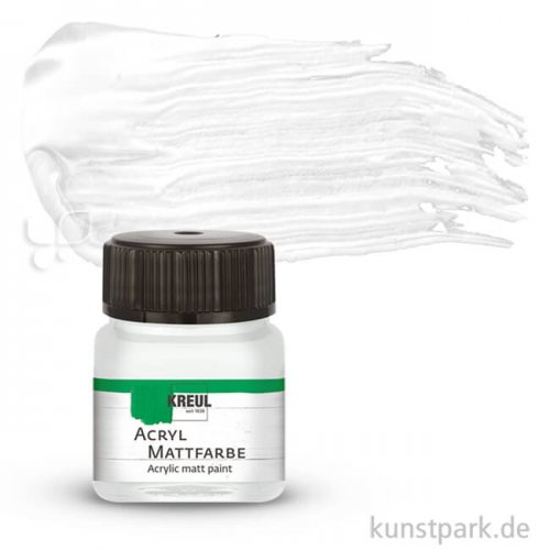 HOBBY LINE Acryl Mattfarbe 20 ml | Pastellweiss