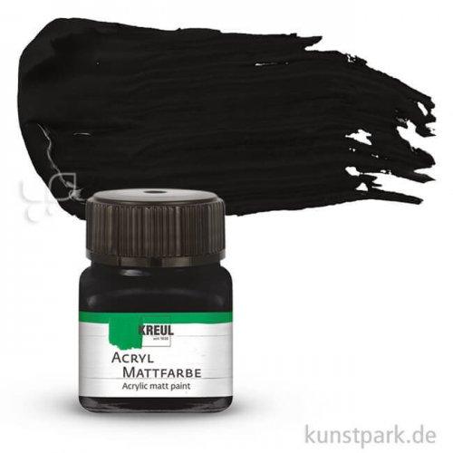 KREUL Acryl Mattfarbe 20 ml   Schwarz