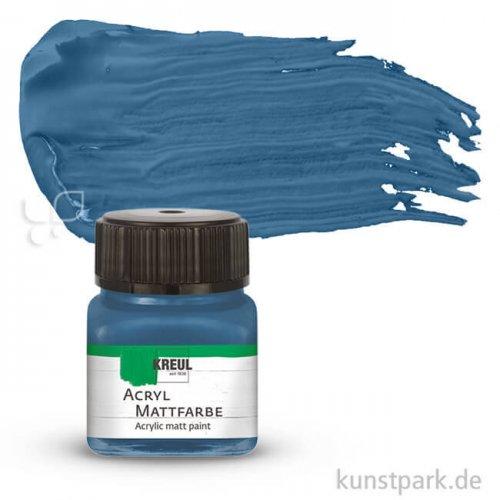 HOBBY LINE Acryl Mattfarbe 20 ml   Stahlblau