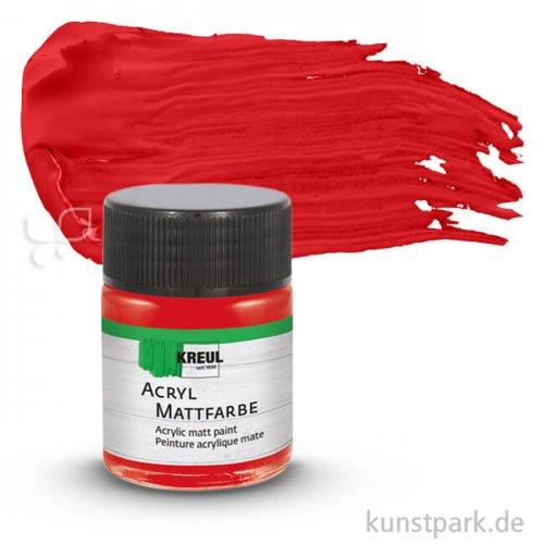 KREUL Acryl Mattfarbe 50 ml | Dunkelrot
